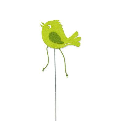 Vilt vogel groen per stuk