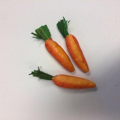 Mini deco wortels 3 stuks per zakje