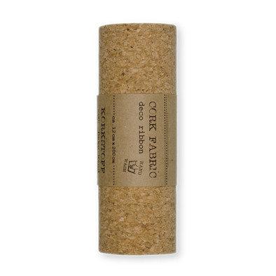 Kurk op stof, fijn, 12 cm x 2 meter