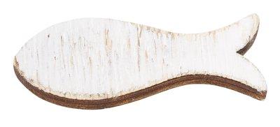 Hout vis wit 6 cm 3 stuks per zakje