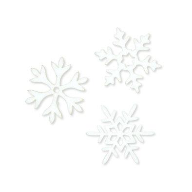 Vilt ijs sterren, Wit 6 stuks