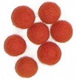 Viltballetjes 10MM Oranje, 50 st. per zakje