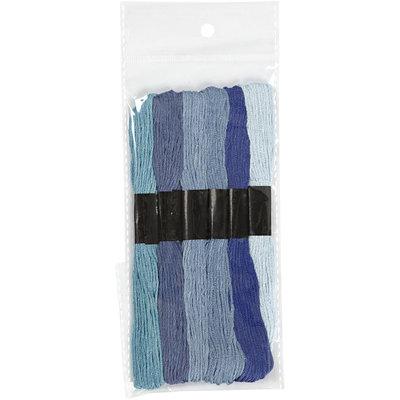 Borduurgaren blauw tinten 7 strengen set