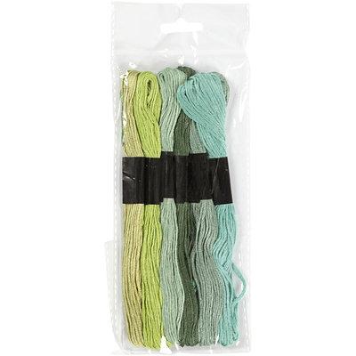 Borduurgaren groen tinten 7 strengen set
