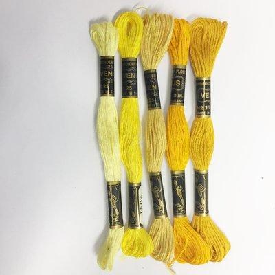 Borduurgaren setje geel tinten