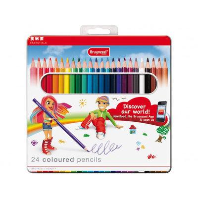 Bruynzeel kinder potloden dik en kort 20 stuks per set