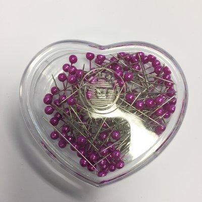 Parelspelden donker paars 6 mm doorsnee, 40 mm lang ca. 120 stuks per bakje