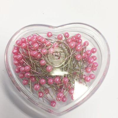 Parelspelden roze 6 mm doorsnee, 40 mm lang ca. 120 stuks per bakje