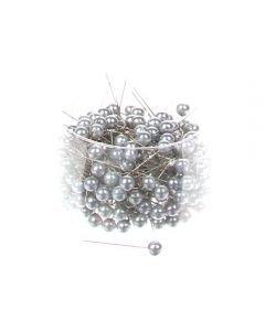 Parelspelden grijs 10 mm doorsnee 60 mm ca. 25 stuks per zakje