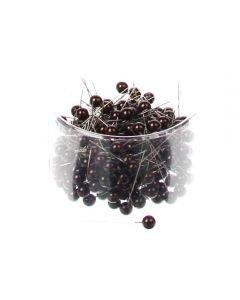Parelspelden donker bruin 10 mm doorsnee 60 mm ca. 25 stuks per zakje