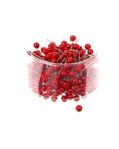 Parelspelden rood 10 mm doorsnee 60 mm ca. 25 stuks per zakje