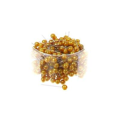 Parelspelden goud 10 mm doorsnee 60 mm ca. 25 stuks per zakje