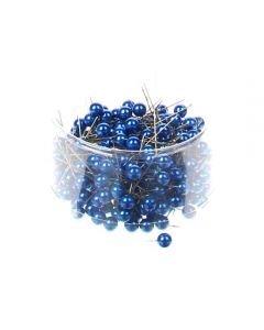 Parelspelden blauw 10 mm doorsnee 60 mm ca. 25 stuks per zakje