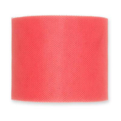 Tule, 7,5 cm x circa 50 meter op rol, Koraal Roze