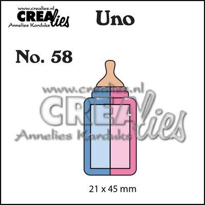 Crealies Uno stans zuigfles klein