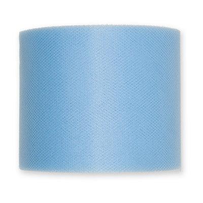 Tule, 7,5 cm x circa 50 meter op rol, Baby Blauw