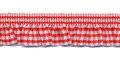 Roezel elastiek rood wit per meter