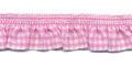 Roezel elastiek roze wit per meter