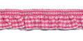 Roezel elastiek fuchsia wit per meter