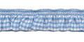 Roezel elastiek lich blauw wit per meter