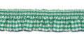 Roezel elastiek groen wit per meter
