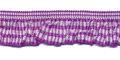 Roezel elastiek paars wit per meter