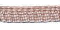 Roezel elastiek bruin wit per meter