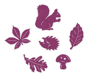 Vilt herfst figuurtjes paars