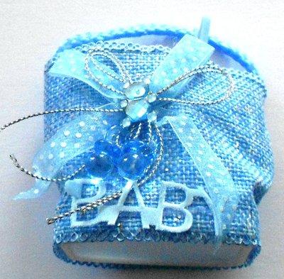 Tasje baby blauw 5,5 x 4,5 x 4 cm