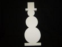 Piepschuim sneeuwpop 11 x 2 cm