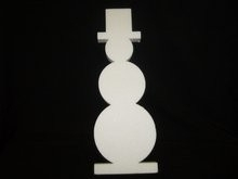 Piepschuim sneeuwpop 98 x 5 cm