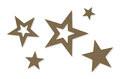 Vilt decoratie sterren zand per zakje