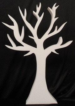 Piepschuimsierlijke boom 50x 36 x 3 cm