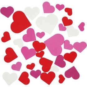 Foam harten wit, rood en roze afmeting 20-45 mm assorti 200 stuks