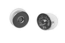 Magneet sluiting zilverkleurig 14 mm