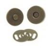 Magneet sluiting bronskleurig 14 mm