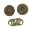 Magneet sluiting bronskleurig 18 mm