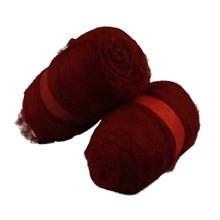 Gekaarde wol bordeaux 100 gram per bol