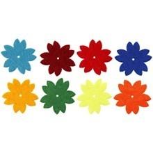 Vilt stickers bloemen figuren 24 assorti