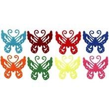 Vilt stickers vlinders figuren 24 assorti