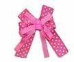 Strik knal roze met witte stippen 8 x 6 cm per stuk