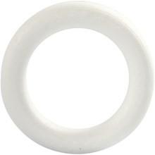 Piepschuim krans 12 cm doorsnee platte achterkant per stuk