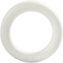 Piepschuim krans 20 cm doorsnee platte achterkant per stuk
