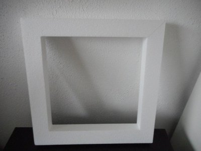 Piepschuim platte krans vierkant groot 40 x 40 x 4 cm