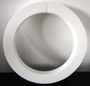 Piepschuim platte krans 40 x 4 x 4 cm