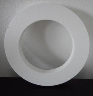 Piepschuim platte krans 40 x 4 x 7 cm