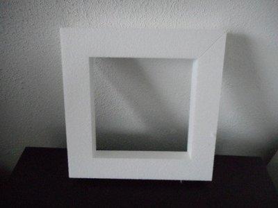 Piepschuim platte krans vierkant klein 30 x 30 x 4 cm