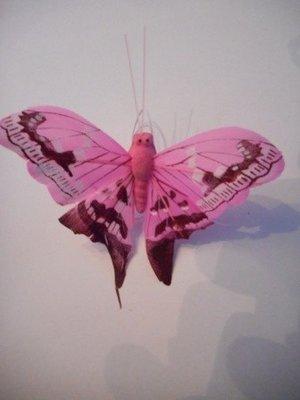 Vlinder licht roze per stuk
