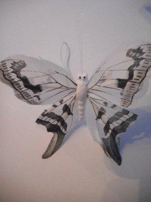 Vlinder wit grijs per stuk