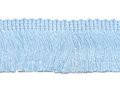 Franje band licht blauw 30 mm breed, per meter